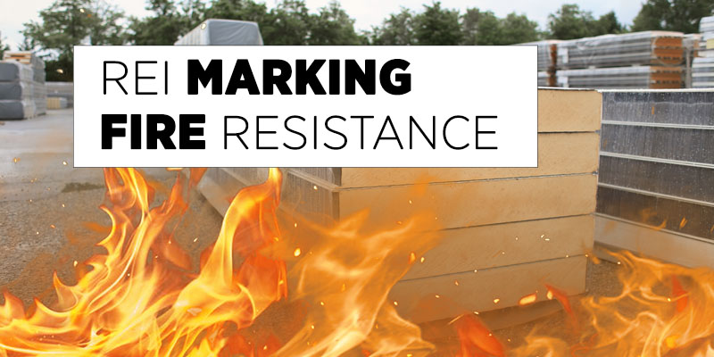 REI MARKING, RESISTANCE TO FIRE