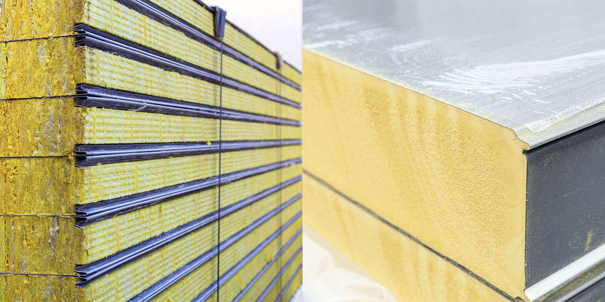 differencebetween PUR and RockWool insulated panels, diferenciaentre paneles PUR y lana de roca