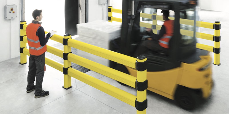 function of a pedestrian barrier, Barrière flexible