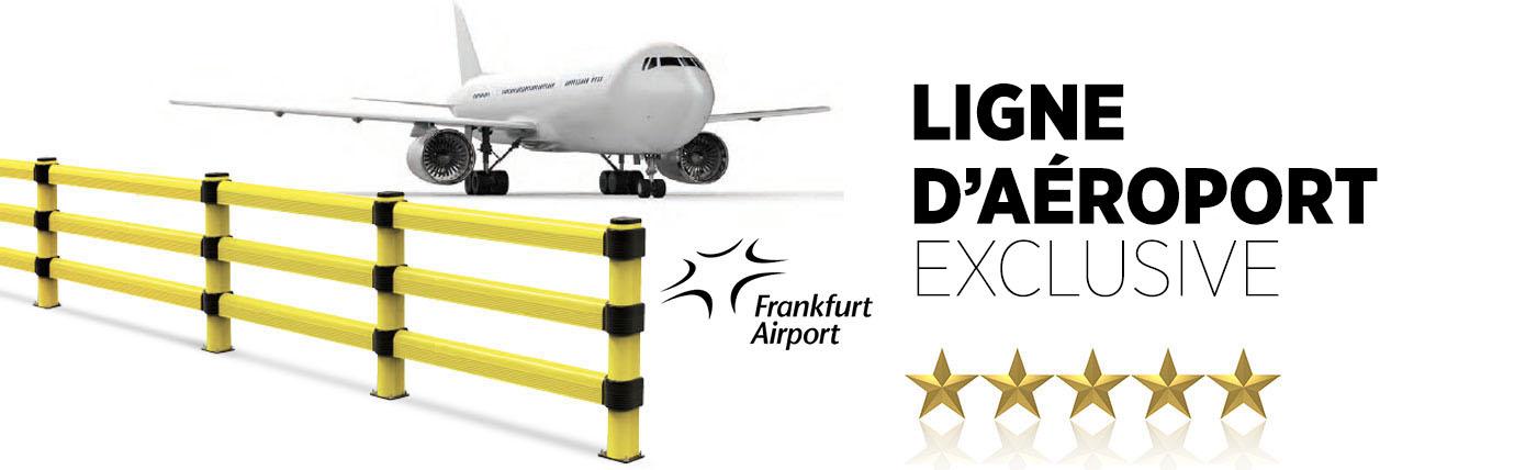 Barrière flexible d'aeroport