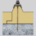 Fijación de paneles de techo en estructura de apoyo de acero