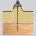 Fijación de paneles de techo en estructura de apoyo en madera