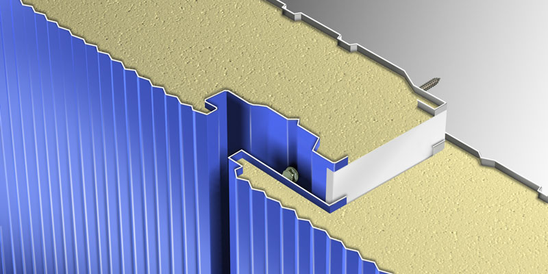 Example of Cladding Panel With Hidden Fixation