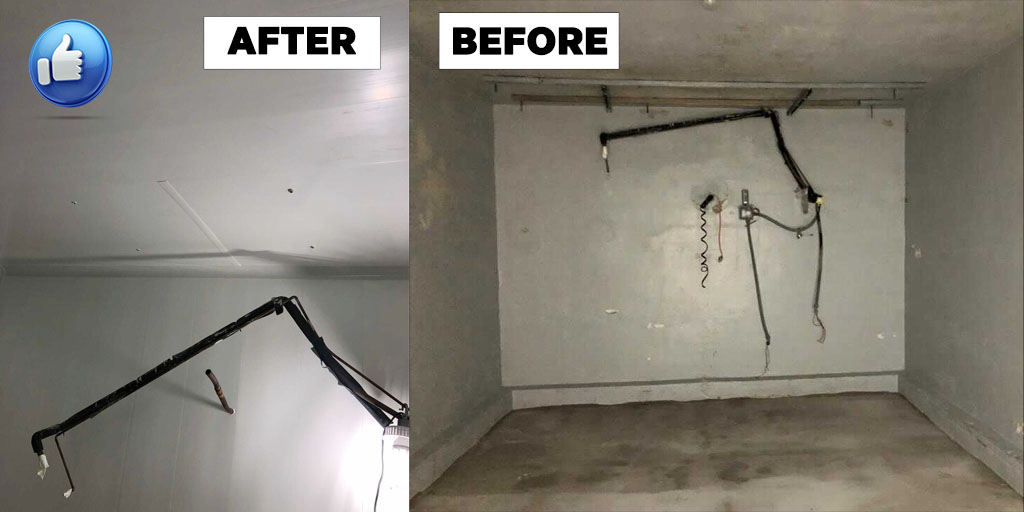 Foto Renovation Cold Room Before & After